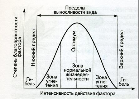 Ответ поясните.  Схема действия экологического фактора.  6. Укажите, как называются границы.